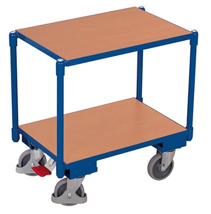 Transportroller VARIOfit®, 2 Holzböden, 250 kg Traglast
