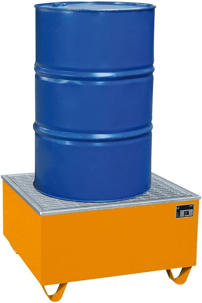 Auffangwannen aus Stahlblech mit PE- Kunststoffeinsatz, bis 1000l Auffangvolumen, Typ AW/PE