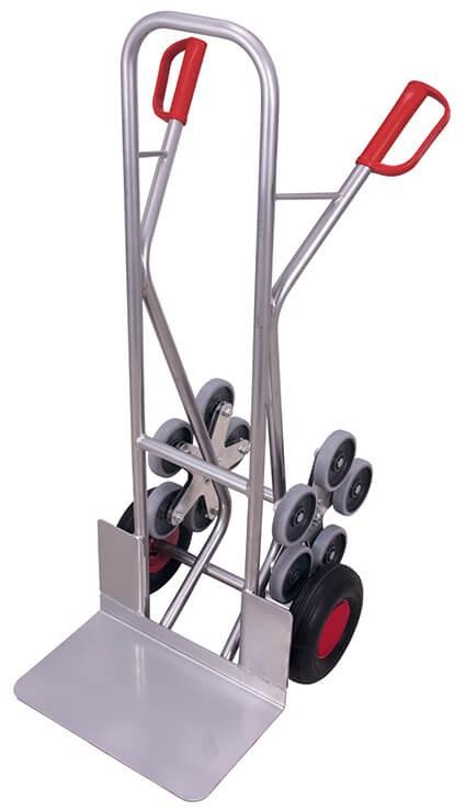 Aluminium-Kombi-Treppenkarre VARIOfit®, Schaufel 480 x 300mm, 200 kg Traglast