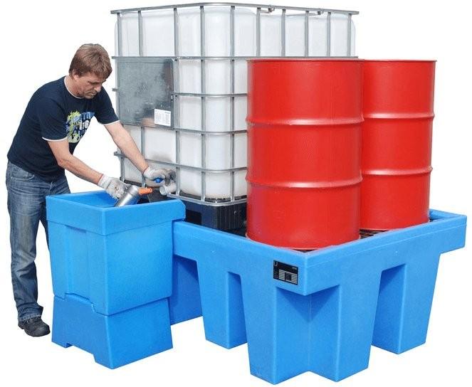 PE-Auffangwanne für IBC Container und Fässer a 200l