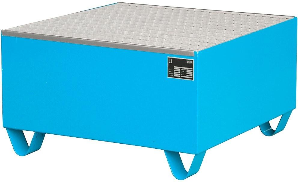 Auffangwanne zur Lagerung von max. einem Fass a 200l, LxBxH 800x800x465, Auffangvolumen 210l