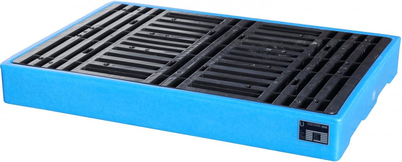 PE-Bodenschutzwanne zur sicheren Lagerung von Fässern a 60 / 200l , Typ BWP-PE