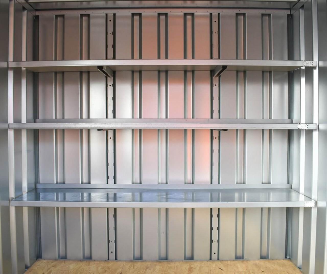 Containerregal, 420mm tief, 3 Lagerebenen