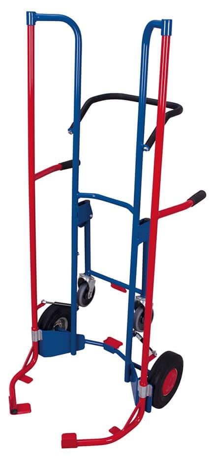 Reifenkarren von VARIOfit®, mit Stützrädern, bis zu 8 Reifen, 200 kg Traglast