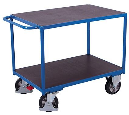 Schwerlast-Tischwagen, VARIOfit®, 2 Ebenen, Traglast bis 1000kg
