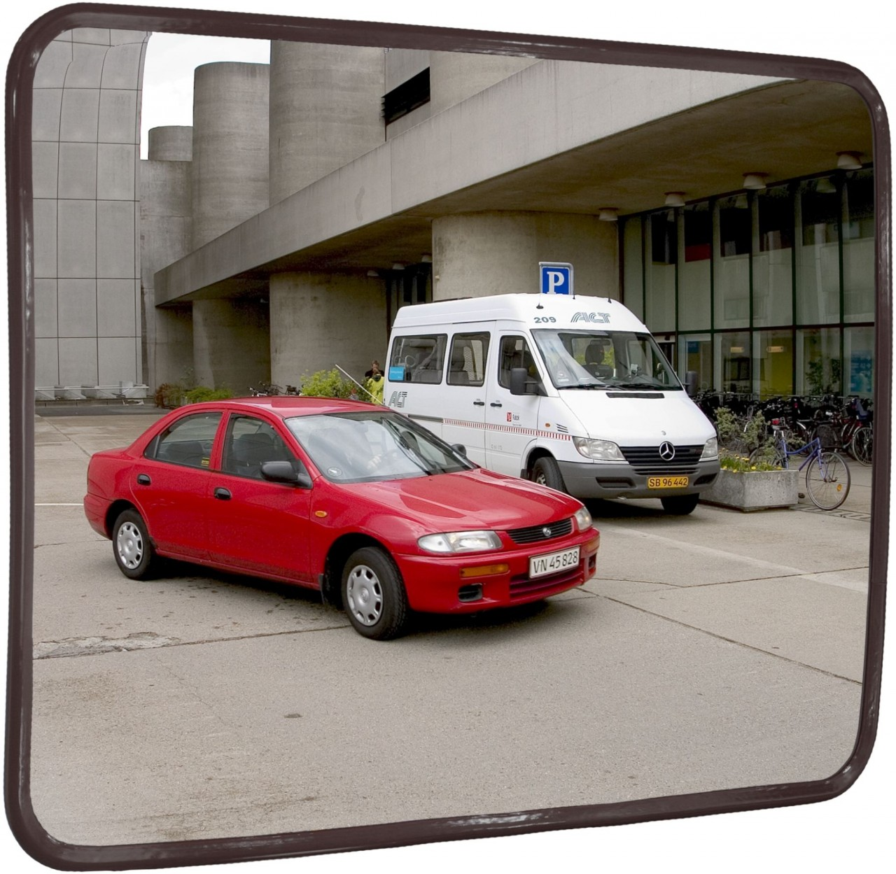 EC-Beobachtungsspiegel, rechteckig, Innenbereich