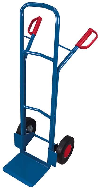Stahlrohr-Kistenkarre VARIOfit®, Schaufel 320 x 250 mm, 250 kg Traglast