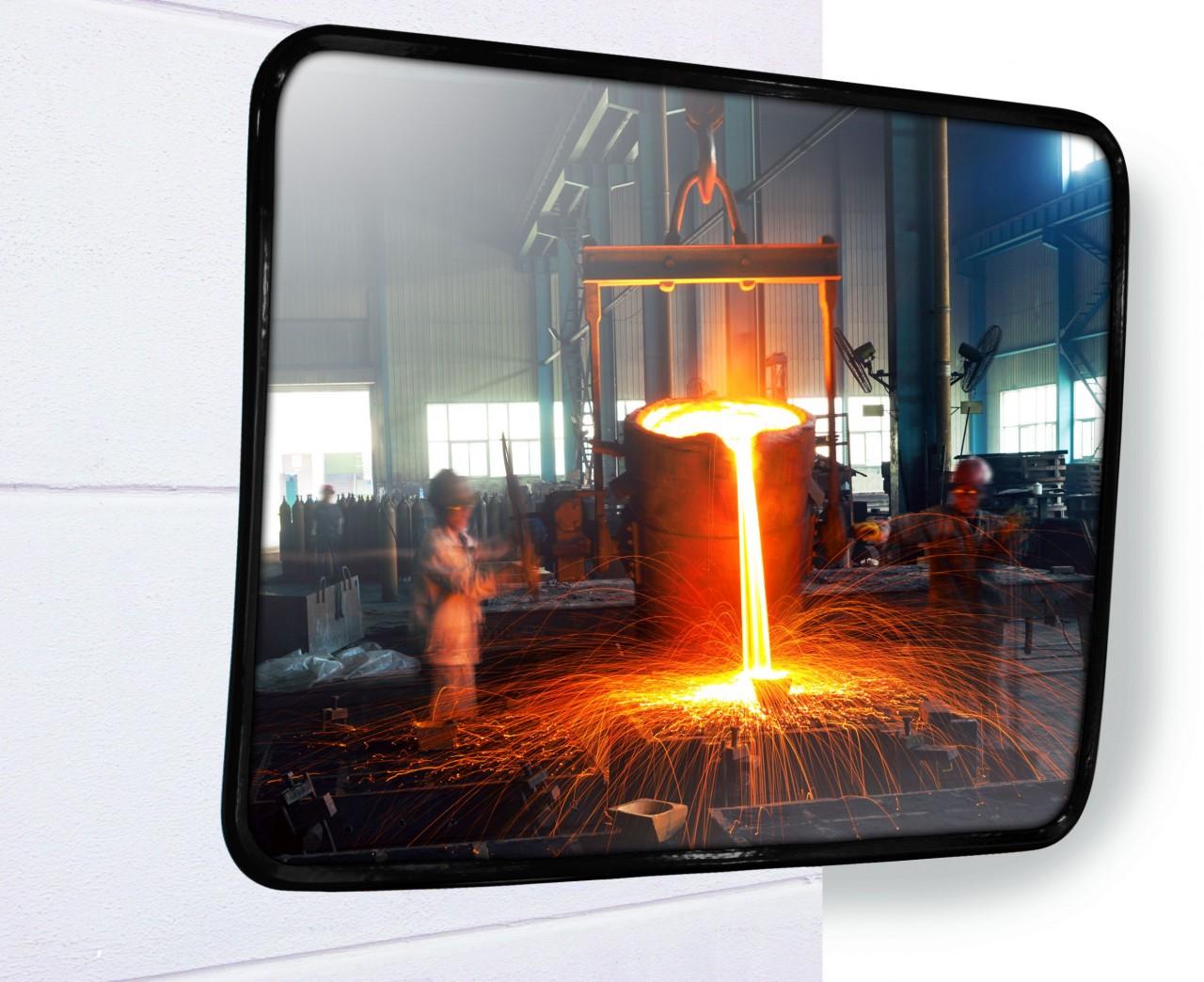 Industriespiegel INOX HF, rechteckig