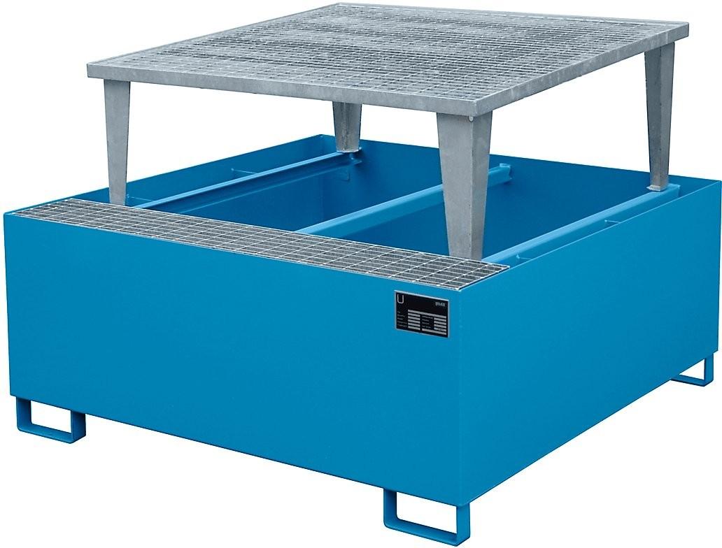 Auffangwanne mit Abfüllaufsatz für Fässer a 200l und IBC/KTC Container, Typ AWA 1000