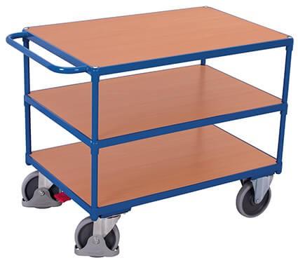 Tischwagen, VARIOfit®, 3 Ebenen, Traglast bis 500kg