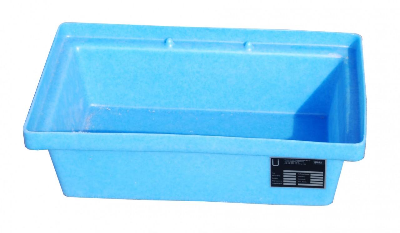 PE-Kleingebindwanne aus Kunststoff, ohne Lochrost, Typ KWP-P-20