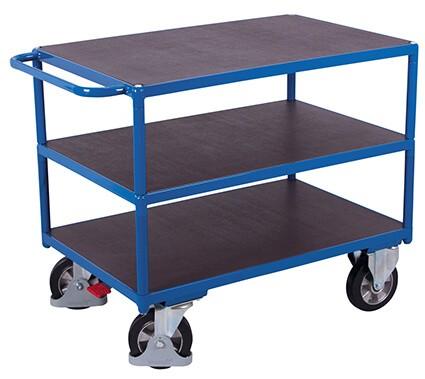 Schwerlast-Tischwagen, VARIOfit®, 3 Ebenen, Traglast bis 1000kg