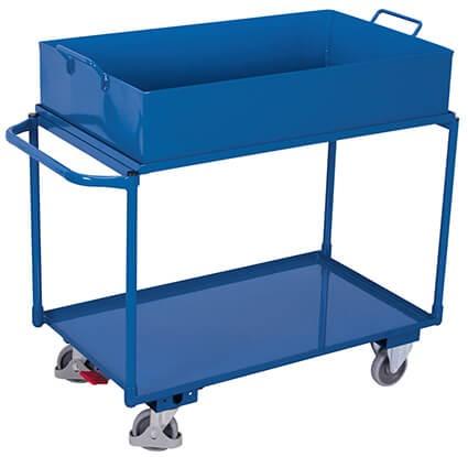 Tischwagen VARIOfit®, abnehmbare öldichte Wanne, 250 kg Traglast, 113l Auffangvolumen