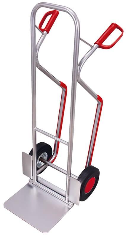 Aluminium-Kufenkarre VARIOfit®, Schaufel 380 x 280mm, einklappbar, 200 kg Traglast