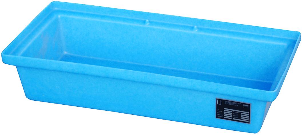 PE-Kleingebindwanne aus Kunststoff, ohne Lochrost, Typ KWP-P-30