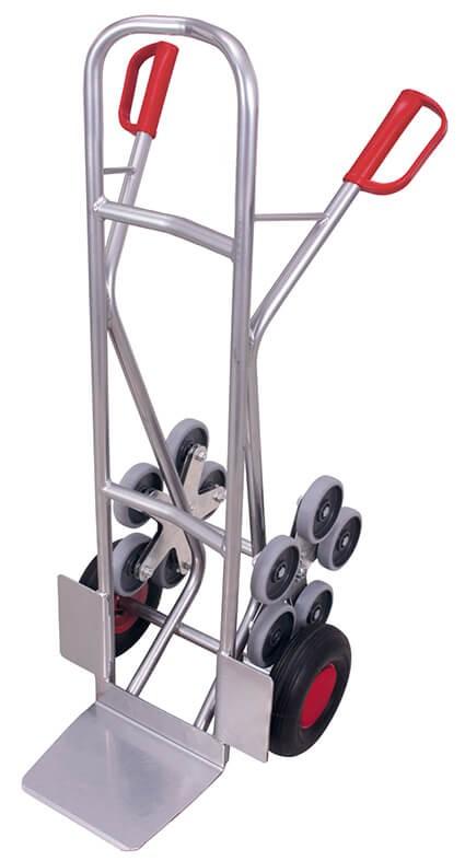 Aluminium-Kombi-Treppenkarre VARIOfit®, Schaufel 300 x 285mm, 200 kg Traglast