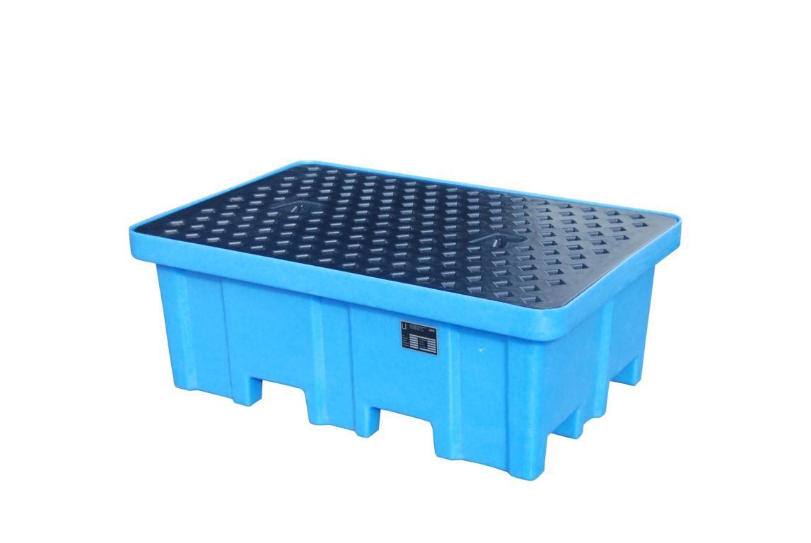 PE-Auffangwanne zur Lagerung von max. 4 Fässer a 200l